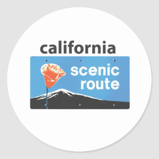 California State Highway Scenic Route Road Sign Sticker