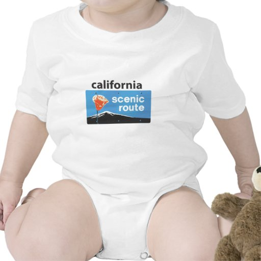 California State Highway Scenic Route Road Sign Tshirts
