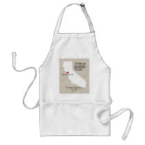 California State Love Home Sweet Home Custom Map Adult Apron