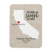 California State Love Home Sweet Home Custom Map Magnet