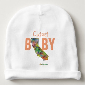 CALIFORNIA STATE MAP - BABY BEANIE