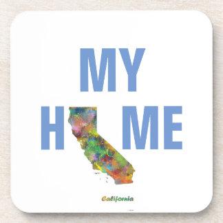 CALIFORNIA STATE MAP - BEVERAGE COASTER