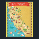 "California State Map Postcard<br><div class=""desc"">California State Map</div>"