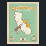 "California State Map | The Golden State Postcard<br><div class=""desc"">Anderson Design Group is an award-winning illustration and design firm in Nashville,  Tennessee. Founder Joel Anderson directs a team of talented artists to create original poster art that looks like classic vintage advertising prints from the 1920s to the 1960s.</div>"