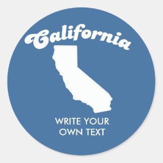 CALIFORNIA STATE MOTTO T-SHIRT T-shirt Classic Round Sticker