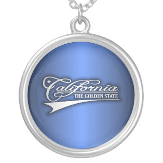 California State of Mine Silver Plated Necklace