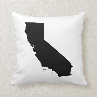 California State outline Throw Pillow