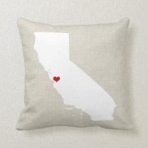 California State Pillow Decor New Home Wedding