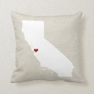 California State Pillow Decor New Home Wedding