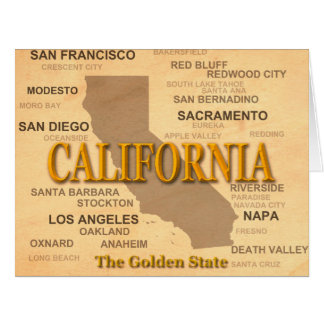 California State Pride Map Silhouette Card