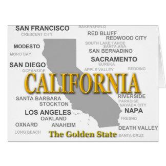 California State Pride Map Silhouette Card