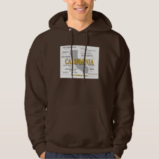 California State Pride Map Silhouette Hooded Pullover