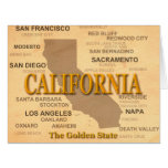 California State Pride Map Silhouette Large Greeting Card