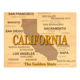 California State Pride Map Silhouette Postcard