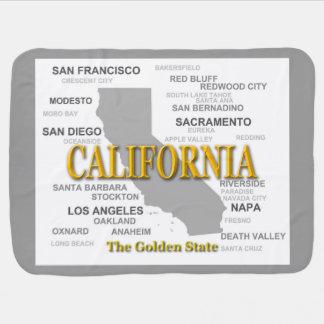 California State Pride Map Silhouette Stroller Blanket