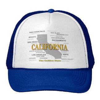California State Pride Map Silhouette Trucker Hat