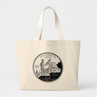 California State Quarter Large Tote Bag