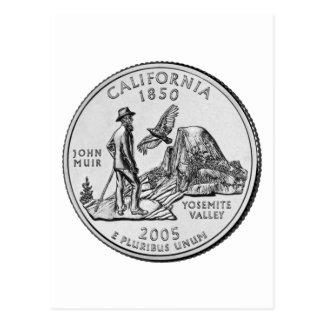 California State Quarter Postcard