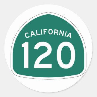 California State Route 120 Classic Round Sticker