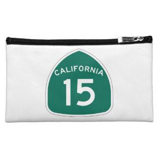 California State Route 15 Makeup Bag