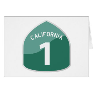 California State Route 1 Pacific Coast Highway Card