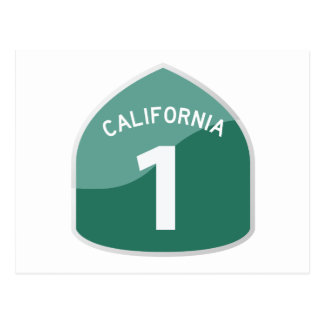 California State Route 1 Pacific Coast Highway Postcard
