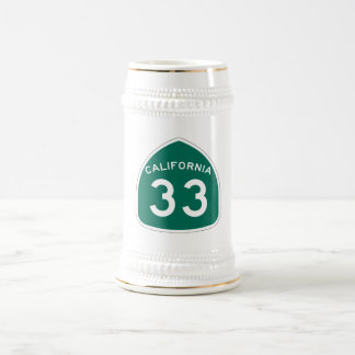California State Route 33 Beer Stein