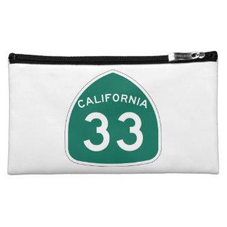 California State Route 33 Makeup Bag