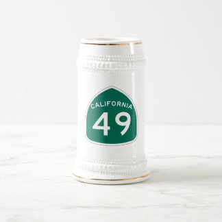 California State Route 49 Beer Stein