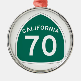 California State Route 70 Metal Ornament