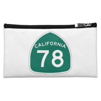 California State Route 78 Makeup Bag