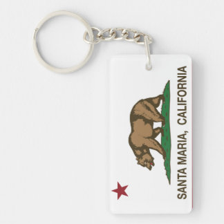 California State Santa Maria Rectangle Acrylic Key Chain