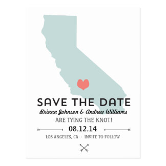 California State Save the Date Postcard