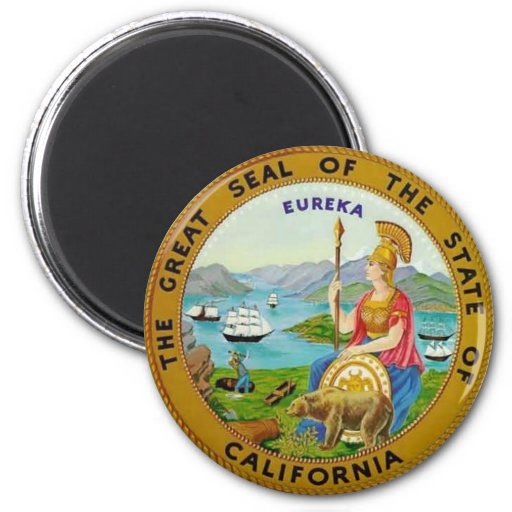 California State Seal 2 Inch Round Magnet