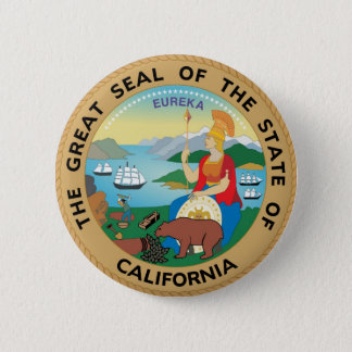 California State Seal and Motto Button