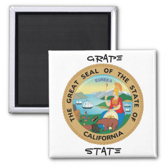 California State Seal and Motto Magnet