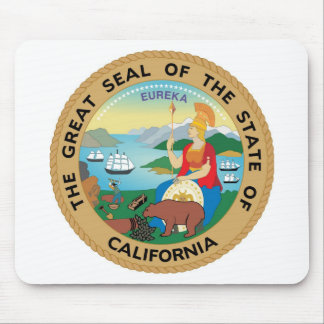 California State Seal and Motto Mouse Pad