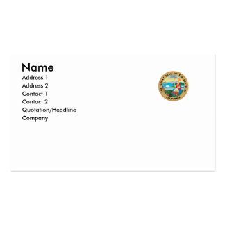 California State Seal Business Card Template