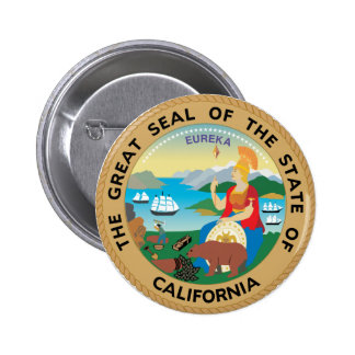 California State Seal 2 Inch Round Button