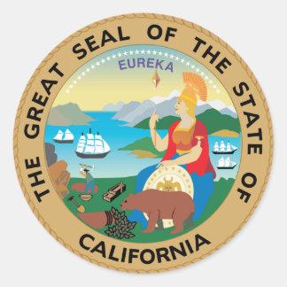 California State Seal Classic Round Sticker