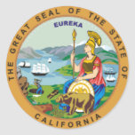 California State Seal Round Stickers