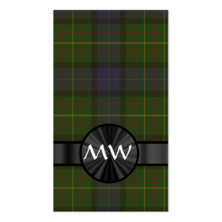 California state tartan business card