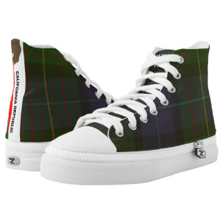 California State Tartan High Top Zipz Sneakers