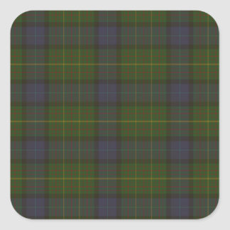 California state tartan square sticker