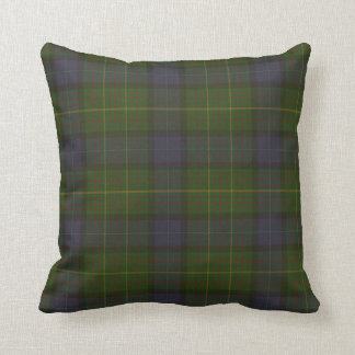 California state tartan throw pillow