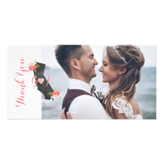 California State Wedding Photo Thank You Card
