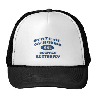 California State XXL Dogface Butterfly Trucker Hat
