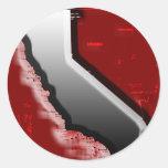 California Steel Round Sticker