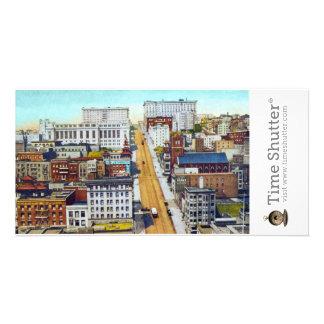 California Street Hill Custom Photo Card