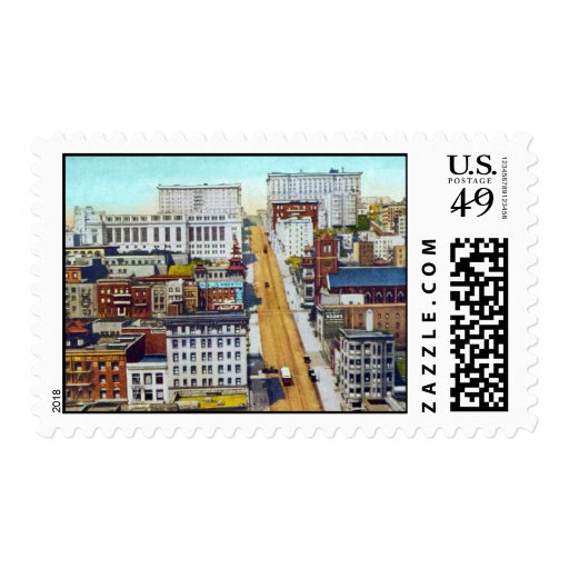 California Street Hill Postage Stamps
